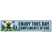 Automobile Bumper Sticker Magnetic Enjoy This Day (Pack of 6)