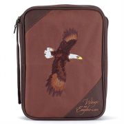 Bible case Xlarge Embroidery Wings as Eagles Brown