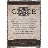 Blanket Cotton 46x68 For It is By Grace You Have Been Saved