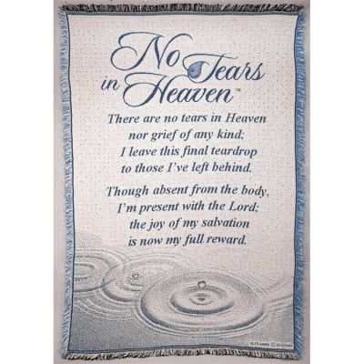 Blanket Cotton 46x68 No Tears In Heaven - 603799387279 - FAB-944