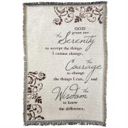 Blanket Cotton 46x68 Serenity Prayer