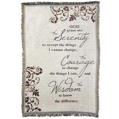 Blanket Cotton 46x68 Serenity Prayer - 603799372862 - FAB-943
