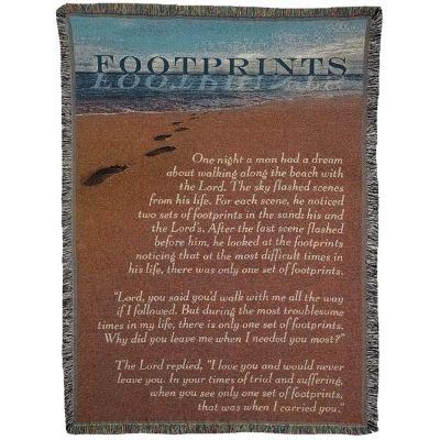 Blanket Cotton 52x68 inch Footprint - 603799315876 - FAB-3064