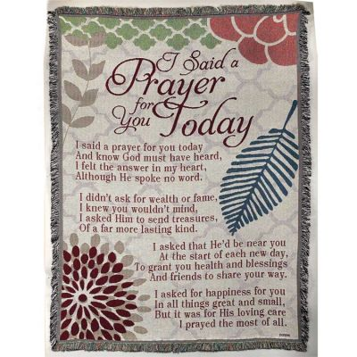 Blanket Cotton 52x68 inch I Said A Prayer for You Today - 603799341417 - FAB-3067