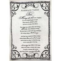 Blanket Cotton 52x68 inch Marriage Takes Three