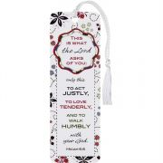 Bookmark Tassel Act Justly & To Love Mercy Micah 6:8, 12pk