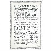 Cotton Throw Rug-48x68-Wedding Anniversary