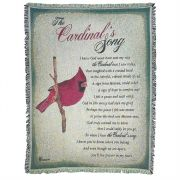Cotton Throw Rug-52x68-The Cardinals Song