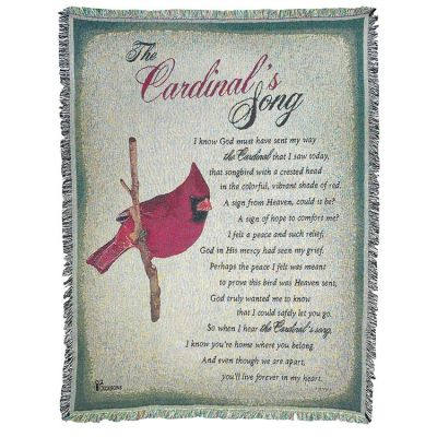 Cotton Throw Rug-52x68-The Cardinals Song - 603799585521 - FAB-3097
