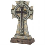 Cross Tabletop Resin Everlasting Life John 3:16 Pack of 2
