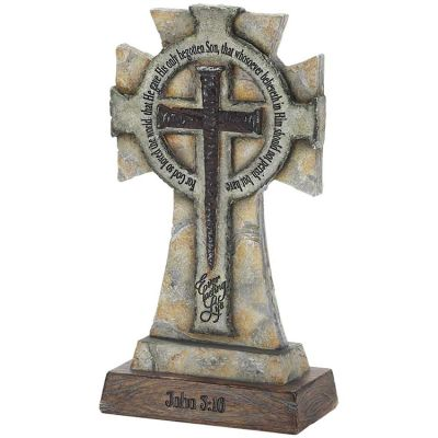 Cross Tabletop Resin Everlasting Life John 3:16 Pack of 2 - 603799492201 - RTTC-37
