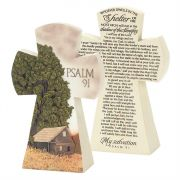 "Figurine Resin 7.5"" Psalm 91 (Pack of 2)"