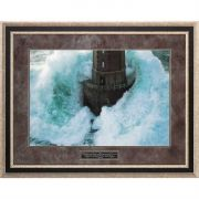 Framed Art Lighthouse The Lord Is My Rock Psalm 18:2