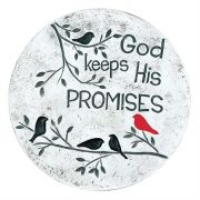 Garden Step Cement Gray Speckle God Keeps His Promises (Pack of 2)