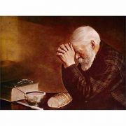 Grace Old Man Praying Mounted Print