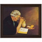 Gratitude Old Woman Praying 20 x16in. Jack Garren Cherry Framed Art