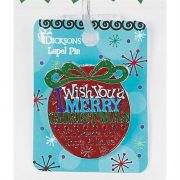 Lapel Pin I Wish You Merry Christmas Pack of 6