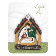 Lapel Pin Jesus Is The Reason for the Season 6pk