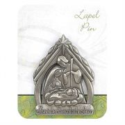 Lapel Pin Jesus Is The Reason Pewter 1 1/2 inch Height (Pack of 6)