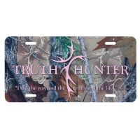 License Plate Truth Hunter Pink Camo Pack of 3