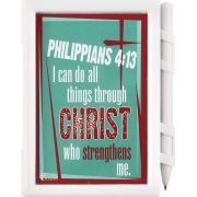 Memo Pad I Can Do All Things Through Christ Philippians 4:13 4pk