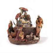 Musical Nativity Water Ball 7 Inch
