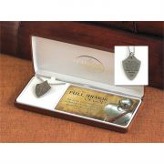 Necklace Pewter Ephesians 6:11 Shield 24 Inch Chain