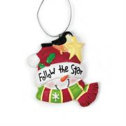 Ornament Resin 2.687 Follow The Star Pack of 6
