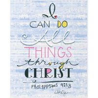 Plaque Can Do All Things Through Christ Philippians 4:13 (Pack of 2)