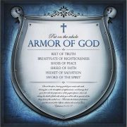 Plaque MDF Full Armor of God Belt Of Truth, Shoes Of Peace