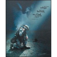 Plaque MDF He Is My Refuge Psalm 91:2 Pack of 2