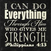 Plaque MDF I Can Do Everything Philippians 4:13 Pack of 2
