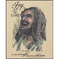 Plaque MDF Jesus Laughing The Joy of the Lord Pack of 2