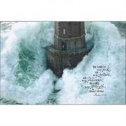 Plaque MDF Lighthouse The Lord Is My Fortress Psalm 18:2