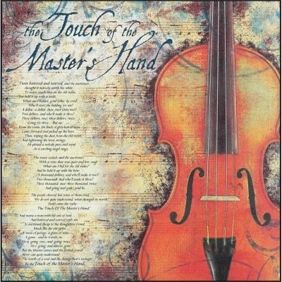 Plaque MDF The Touch Of The Master s Hand - 603799426183 - PLK1212-717