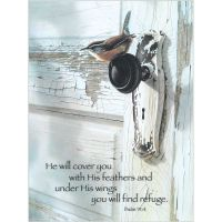 Plaque MDF Under His Wings You Will Find Refuge Psalm 91:4