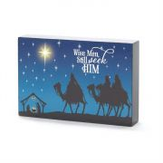 Plock Tabletop MDF 6x1x4 Inch Wise Men Pack of 3