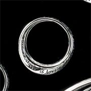 Ring Double Silver Plated Philippians 4:8 Size 10