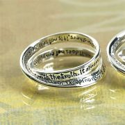 Ring Silver Plated Double Mobius 1 Corinthians 13, Size 6 Pack of 2