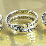 Ring Silver Plated Double Mobius Ephesians 6:13 Pack of 2
