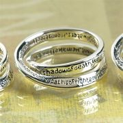 Ring Silver Plated Double Mobius Psalm 23 Size 6 Pack of 2