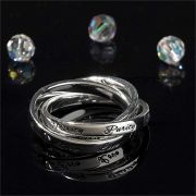 Ring Silver Plated Love/Purity/Trust Size 7