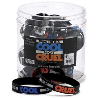 Silicone Bracelet Cool Not Cruel Philippians 2:3, 7/16in. 24pk