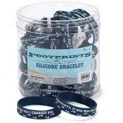 Silicone Bracelet Footprints 24 Pack of 24