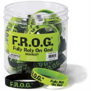 Silicone Bracelets F R O G Fully Rely On God Pack of 24