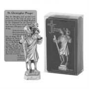 Tabletop 3.5 Inch Figurine Pewter St Christopher