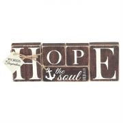 Tabletop Word Wood 9.75x3.5 Inch Hope Anchors the Soul (Pack of 2)