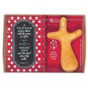 Teacher Trust Him Hand Carved Pinewood Cross (Pack of 3)