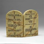 Ten Commandments Resin Tablets -  2 Arched wall or Tabletop Plaques