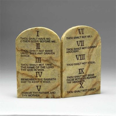 Ten Commandments 2 Arched wall or Tabletop Plaques - 603799174190 - CMG-87